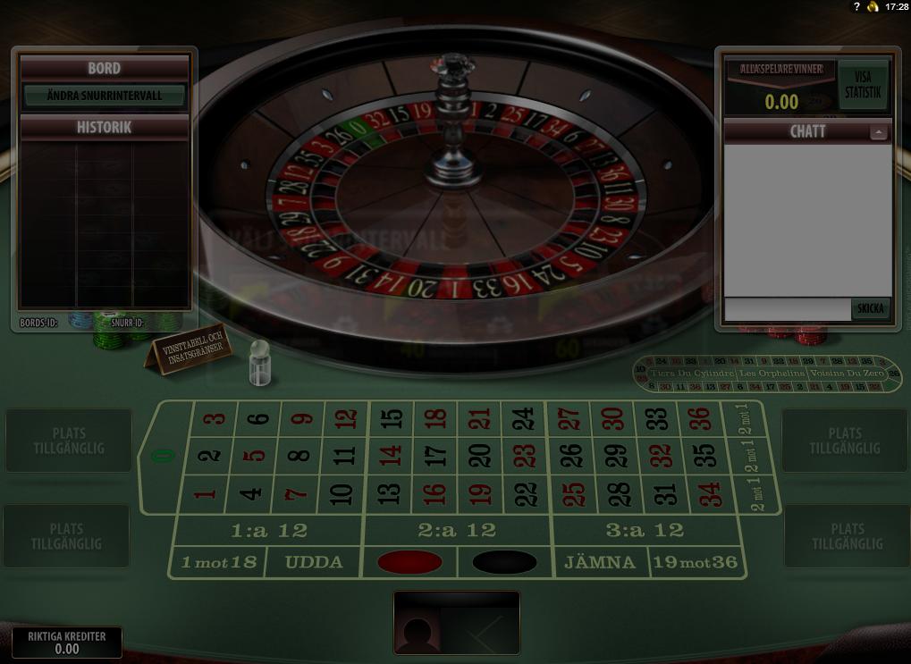 Roulettebord med - 9313