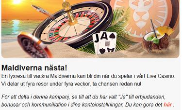 Casinoerbjudande varje vecka - 45994