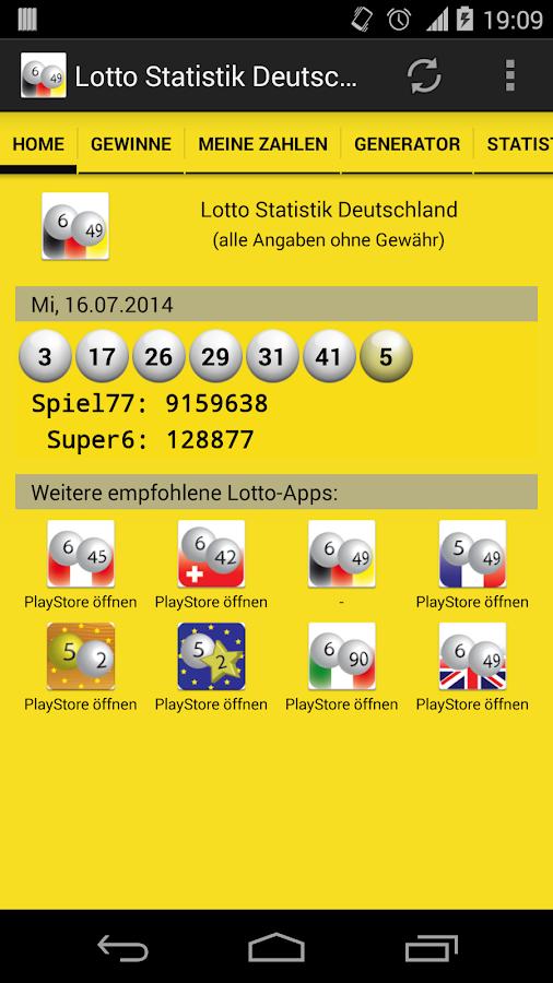 Lotto statistik - 34694