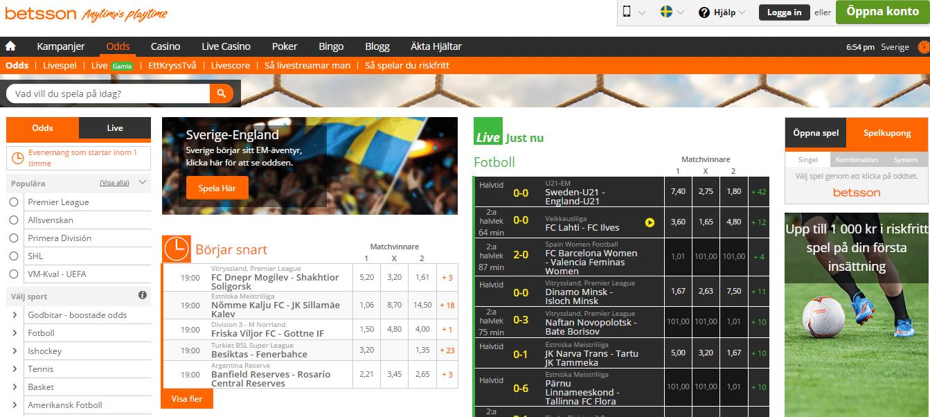 Spela live odds - 10072