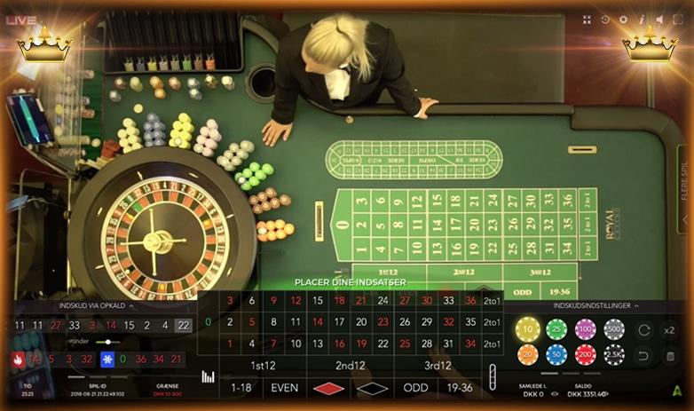 Roulettebord med - 18347