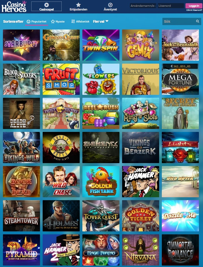 Casino heroes recension - 10413