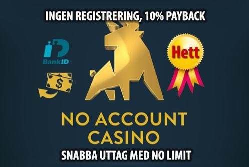 No account bet - 89620